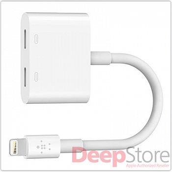 Разветвитель Belkin Lightning Audio + Charge RockStar