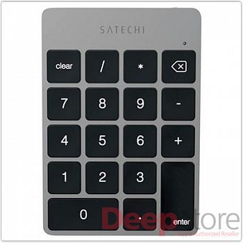 Клавиатура Satechi Aluminum Slim Rechargeable Keypad Space Gray Bluetooth