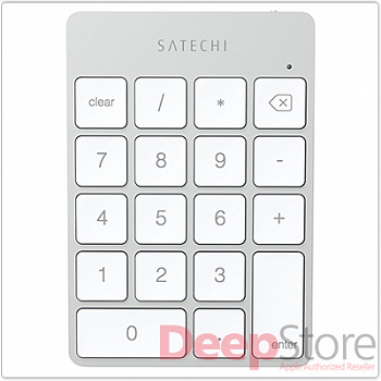 Клавиатура Satechi Aluminum Slim Rechargeable Keypad Silver Bluetooth
