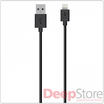 Кабель Belkin Lightning to USB Cable, чёрный (1.2 м)